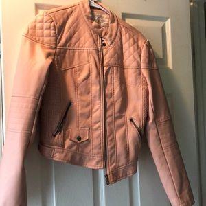 Blush pleather jacket size: M